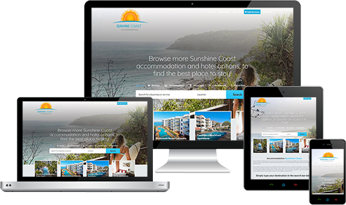 Accommodation Sunshine Coast displayed beautifully on multiple devices